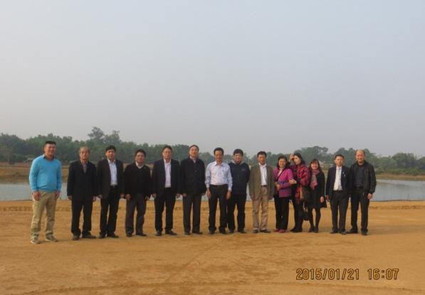 Chủ tịch Viện Hàn lâm Khoa học Công nghệ Việt Nam kiểm tra tiến độ thực hiện Dự án Trung tâm Vũ trụ Việt Nam